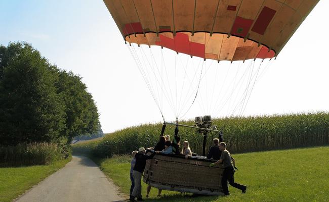 atterir en montgolfière